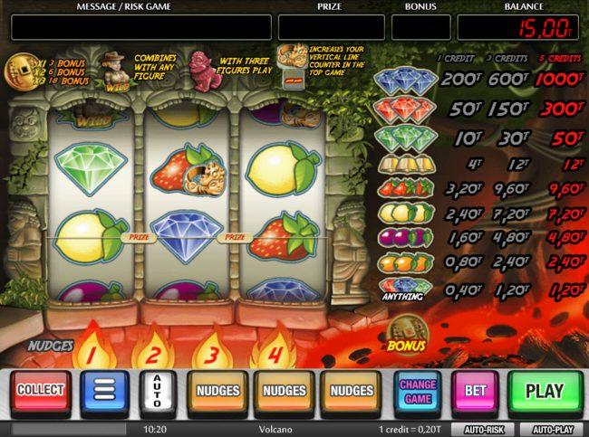 Volcano :: Main Game Board