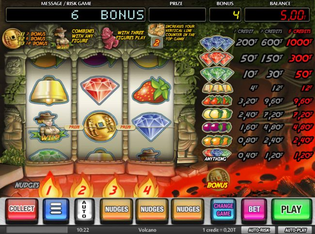 Volcano :: Bonus coin triggers award