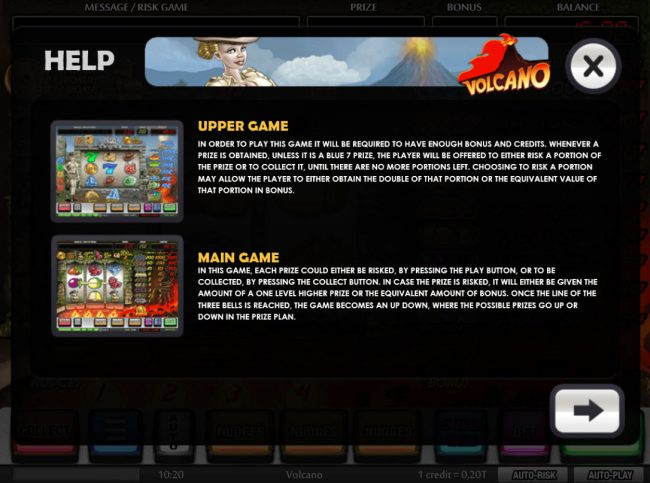 Volcano :: Upper Game and Main Game Rules