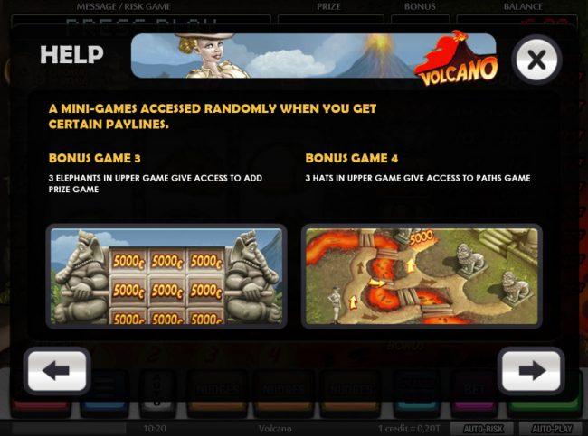 Volcano :: Bonus Game Rules
