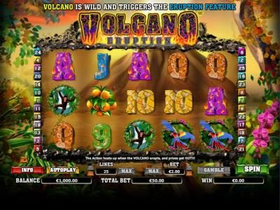Play slots at Wicked Jackpots: Wicked Jackpots featuring the Video Slots Volcano Eruption with a maximum payout of $1,000