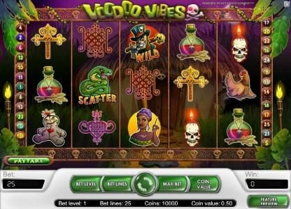 LaFiesta featuring the Video Slots Voodoo Vibes with a maximum payout of $15,000
