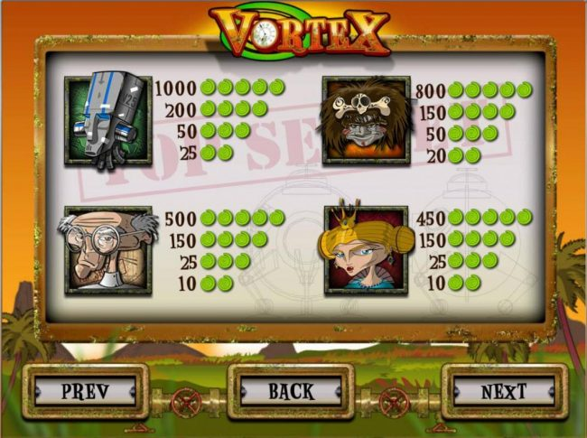 Play slots at Scatters: Scatters featuring the Video Slots Vortex with a maximum payout of $6,250