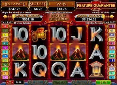 Las Vegas USA featuring the Video Slots Vulcan with a maximum payout of $750,000