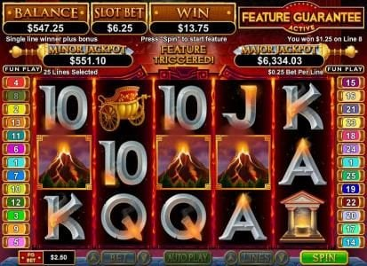 All Star Slots featuring the Video Slots Vulcan with a maximum payout of $750,000