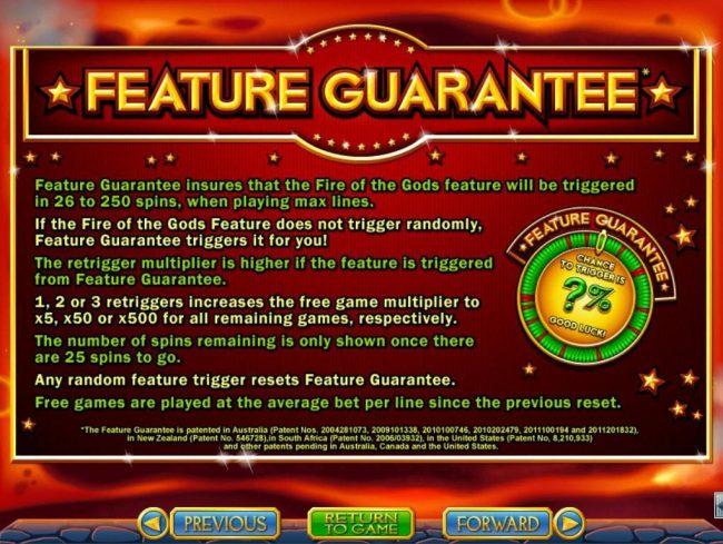Feature Guarantee Rules