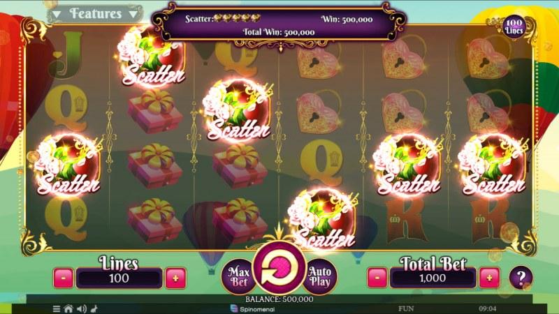 Valentine's Fortune :: Scatter Win