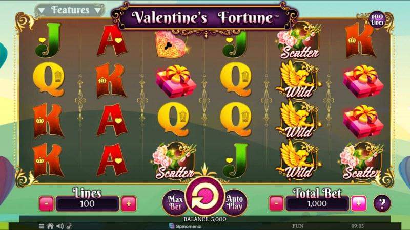 Valentine's Fortune :: Base Game Screen