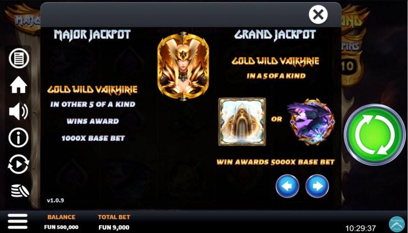 Valkyrie Wild Storm :: Jackpot Rules