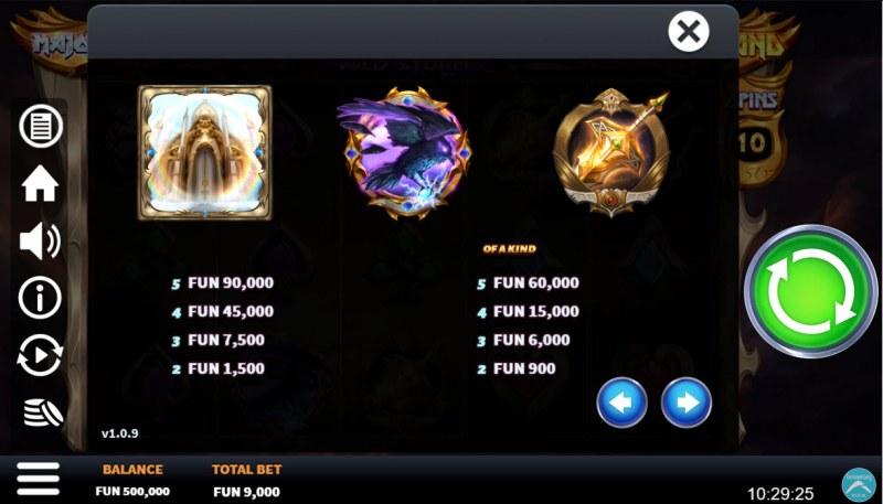 Valkyrie Wild Storm :: Paytable - High Value Symbols