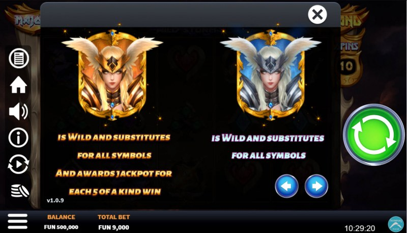 Valkyrie Wild Storm :: Wild Symbols