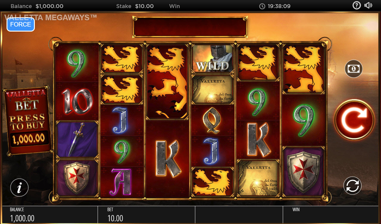 Valletta Megaways :: Main Game Board