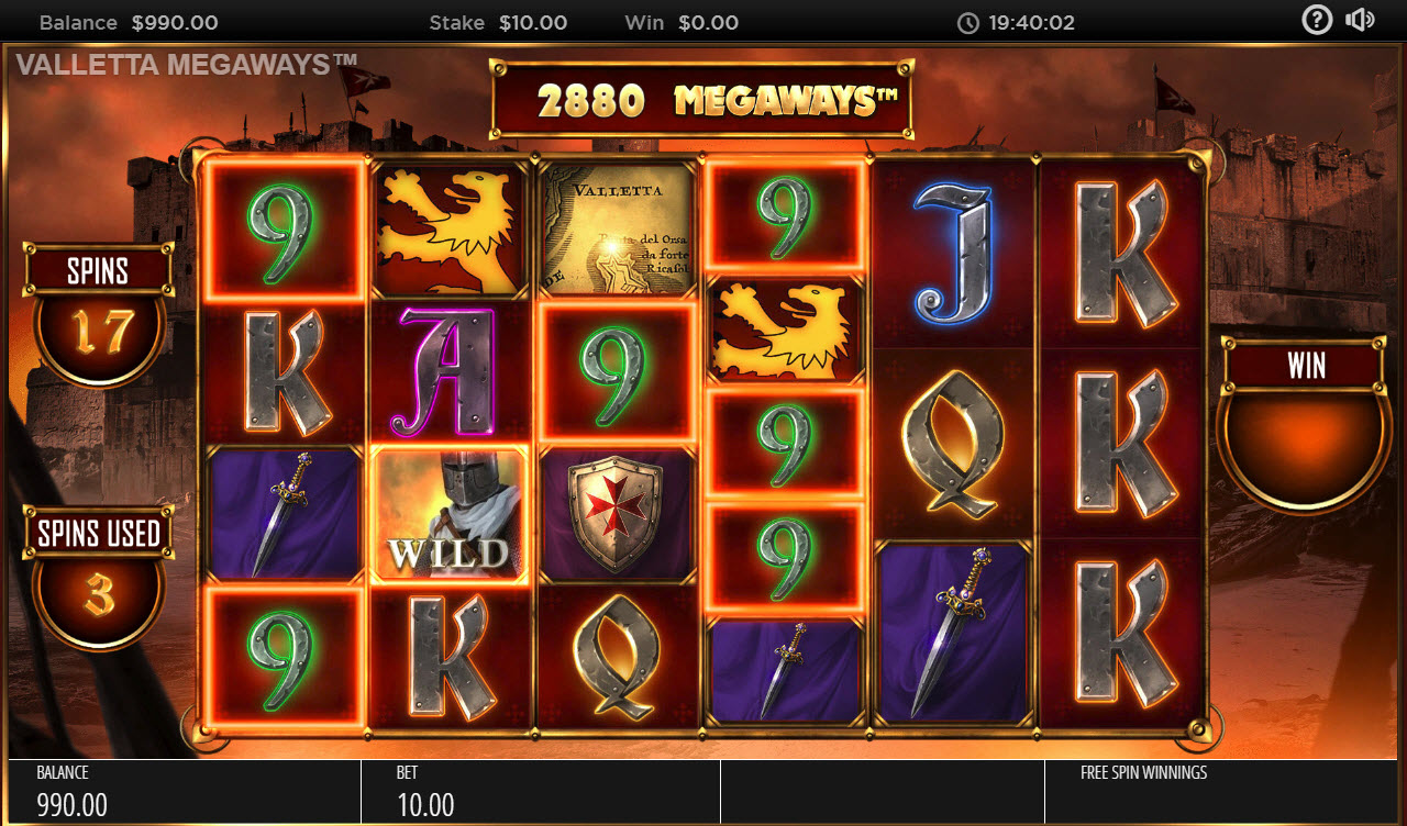 Valletta Megaways :: Free Spins Game Board