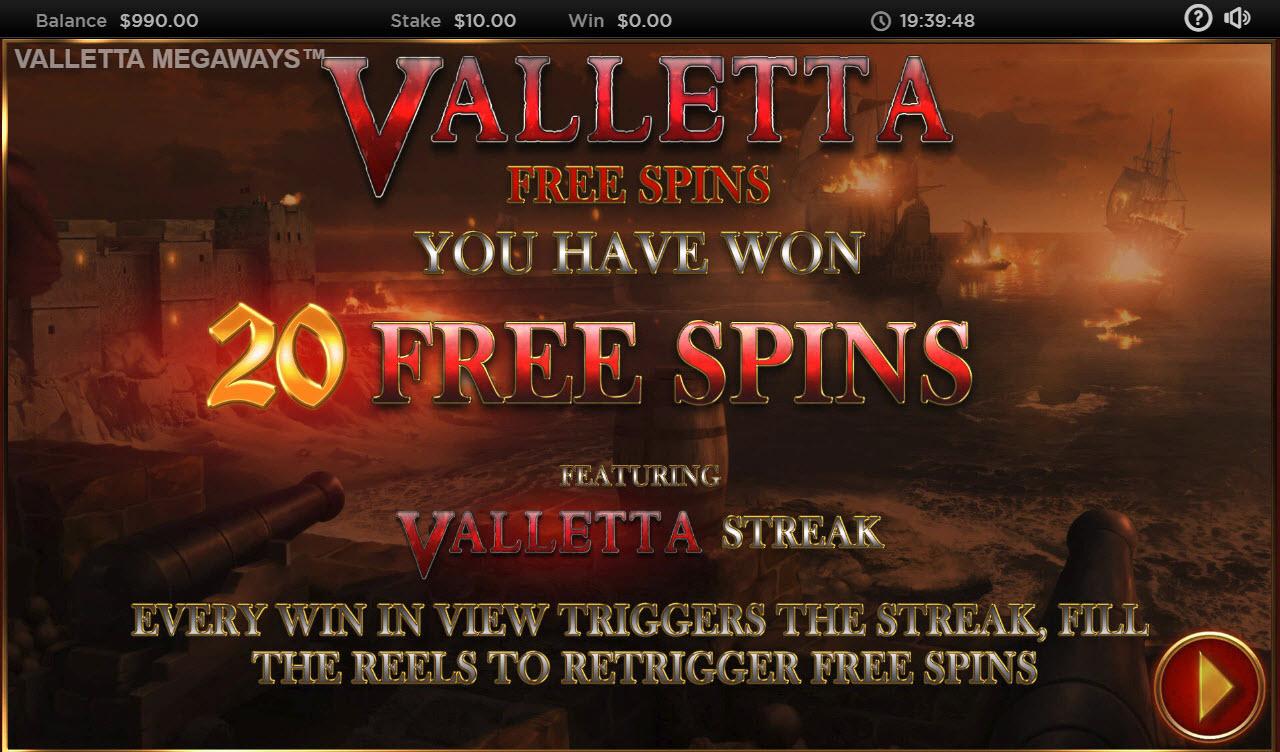 Valletta Megaways :: 20 Free Spins Awarded