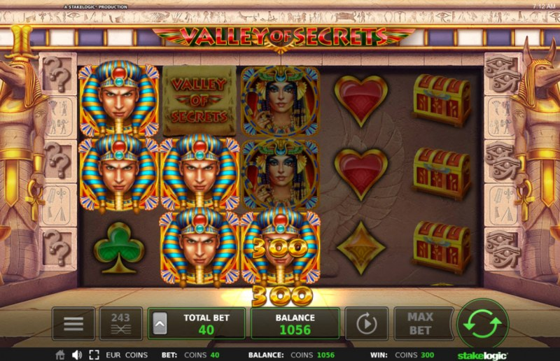 Valley of Secrets :: Multiple winning paylines
