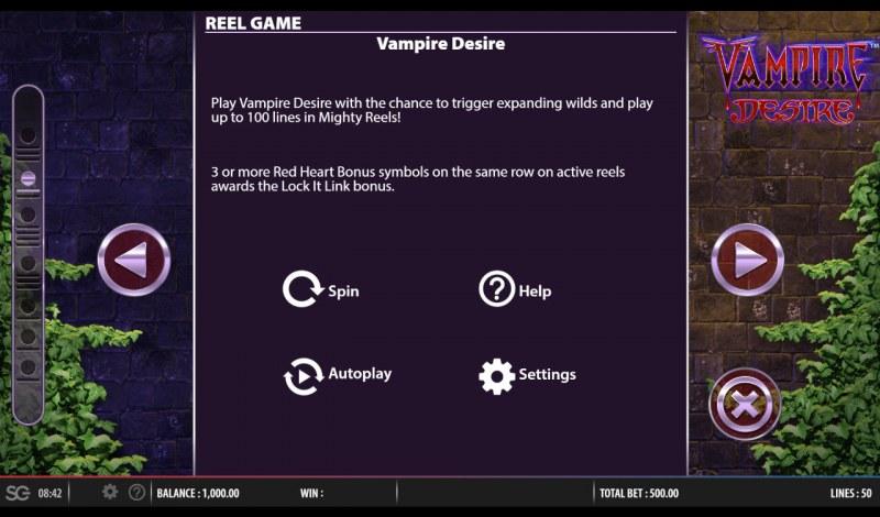 Vampire Desire :: Feature Rules