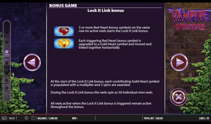 Vampire Desire :: Lock It Link Bonus