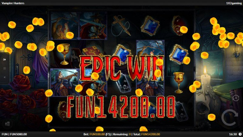 Vampire Hunters :: Total free spins payout