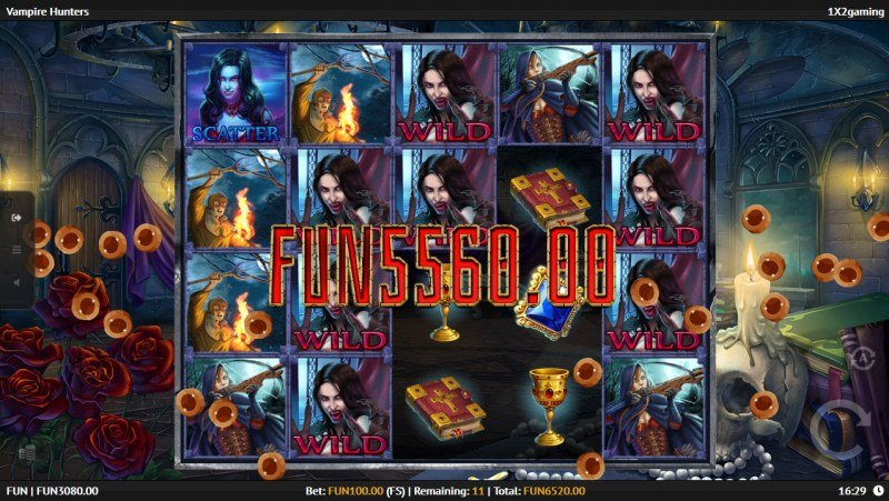 Vampire Hunters :: Multiple winning combinations leads to a big win