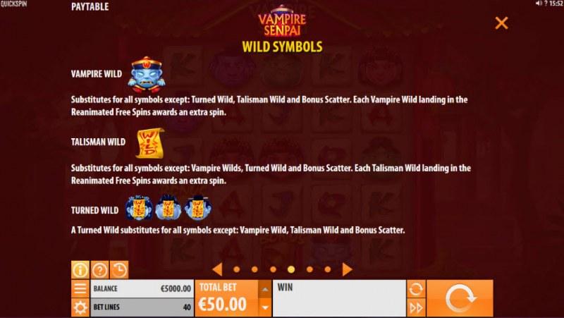 Vampire Senpai :: Wild Symbols Rules