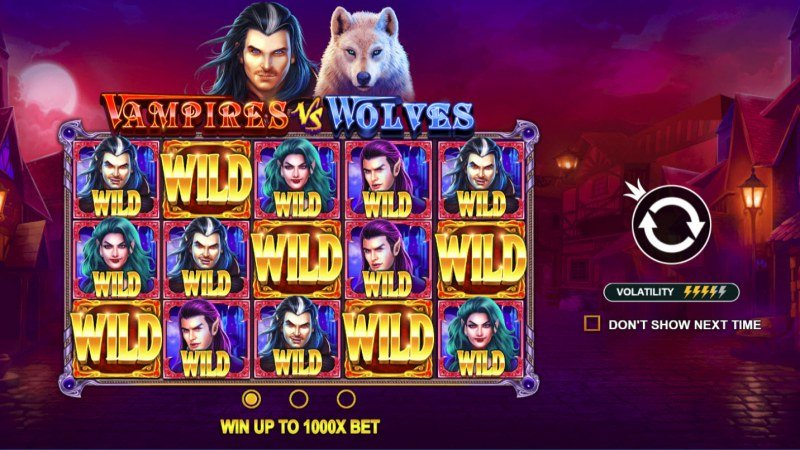 Play slots at VipSpel: VipSpel featuring the Video Slots Vampires vs Wolves with a maximum payout of $50,000