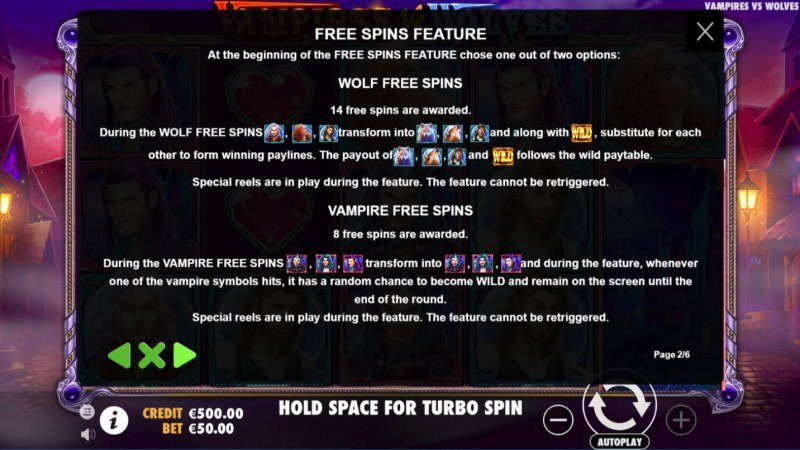 Vampires vs Wolves :: Feature Rules