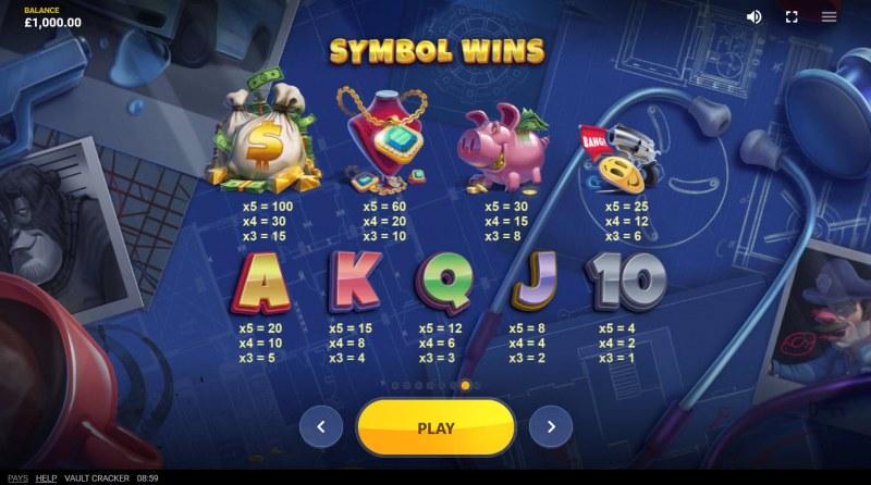 Vault Cracker :: Symbol Wins