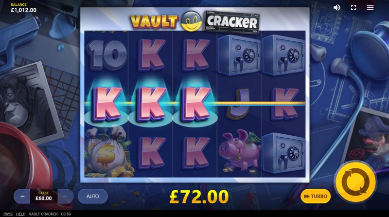 Vault Cracker :: Multiple winning paylines