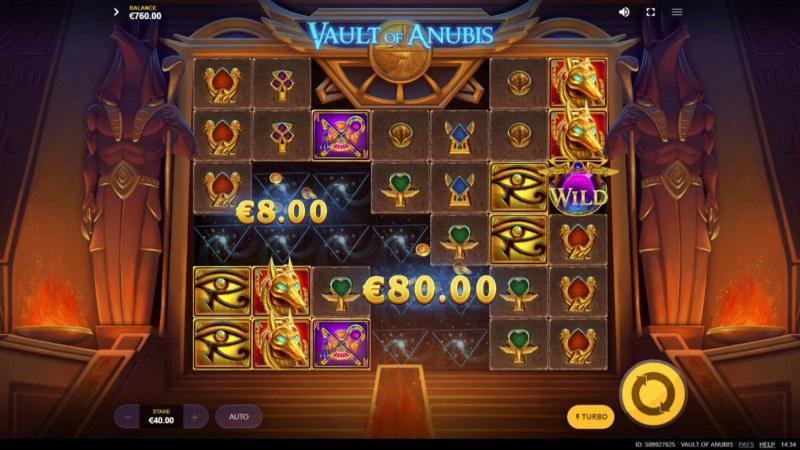 Vault of Anubis :: Multiple winning combinations