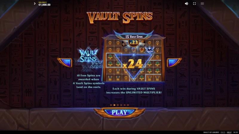 Vault of Anubis :: Vault Spins