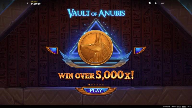 Vault of Anubis :: Win Over 5,000x