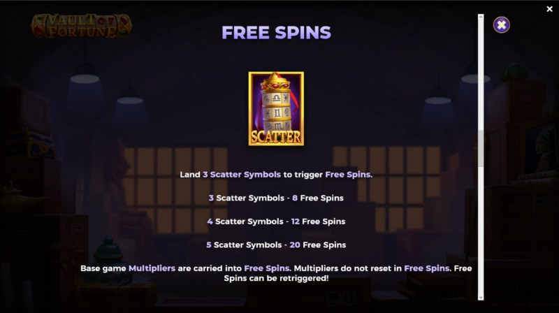 Vault of Fortune :: Free Spin Feature Rules