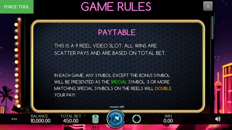 Vegas Baby :: General Game Rules