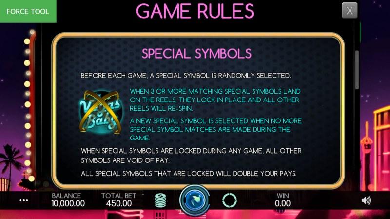 Vegas Baby :: Special Symbols