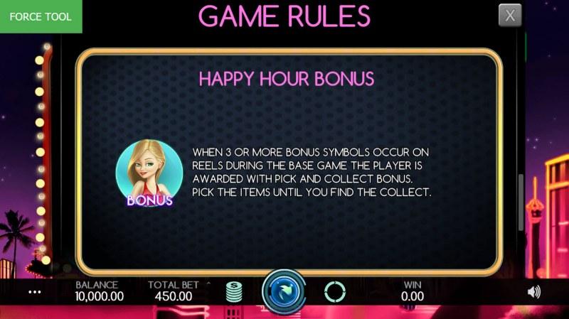 Vegas Baby :: Happy Hour Bonus