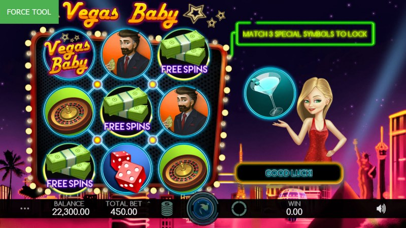 Vegas Baby :: Scatter symbols triggers the free spins feature
