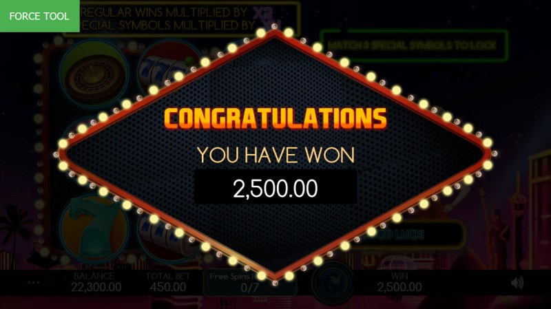 Vegas Baby :: Total free spins payout