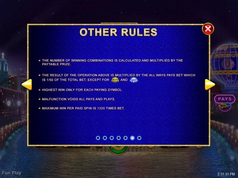 Vegas Lux :: General Game Rules