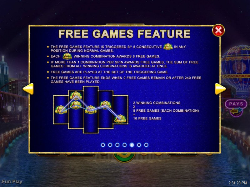 Vegas Lux :: Free Games Feature