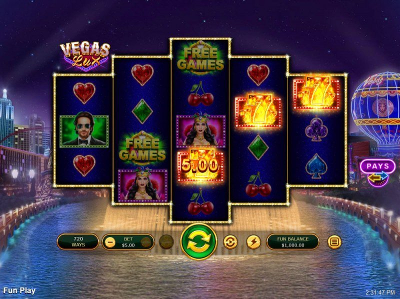 Vegas Lux :: Game Pays In Both Directions