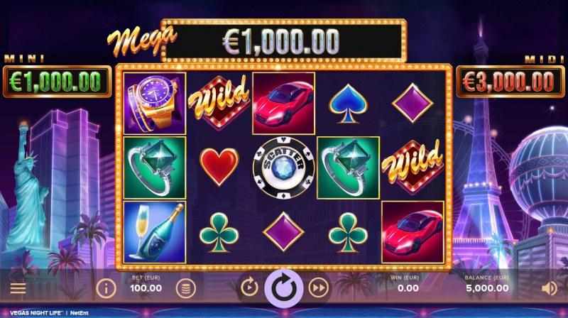 Vegas Night Life :: Main Game Board