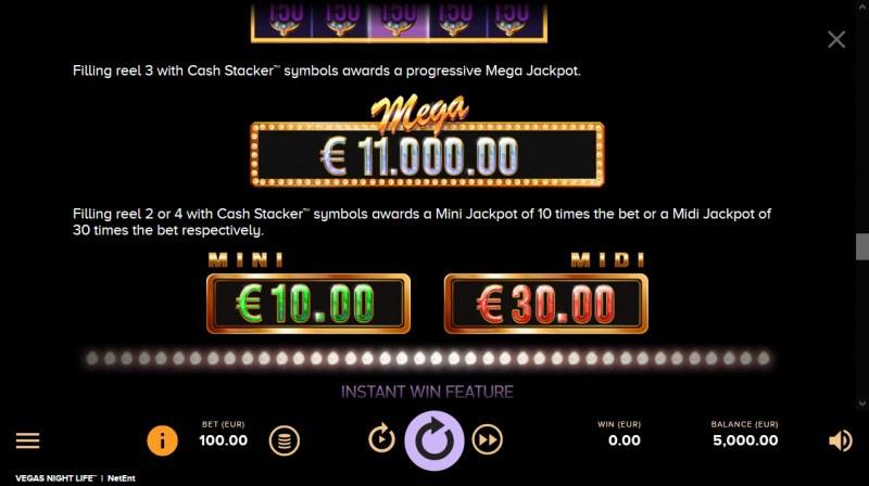 Vegas Night Life :: Jackpot Rules
