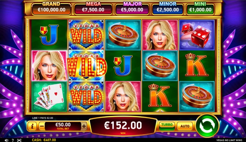 Vegas No Limit Wins :: A three of a kind win