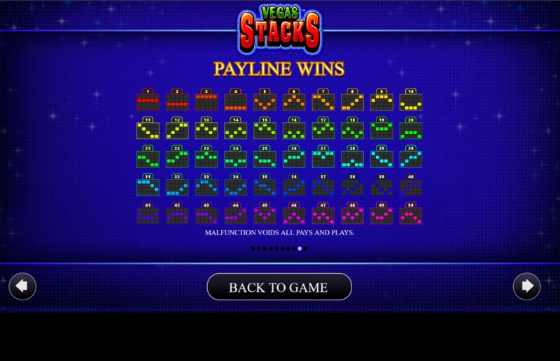 Vegas Stacks :: Paylines 1-50