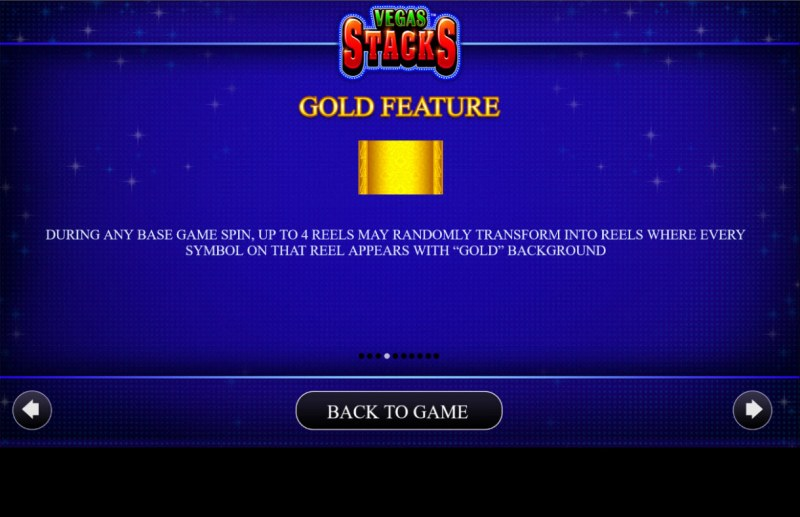 Vegas Stacks :: Gold Feature