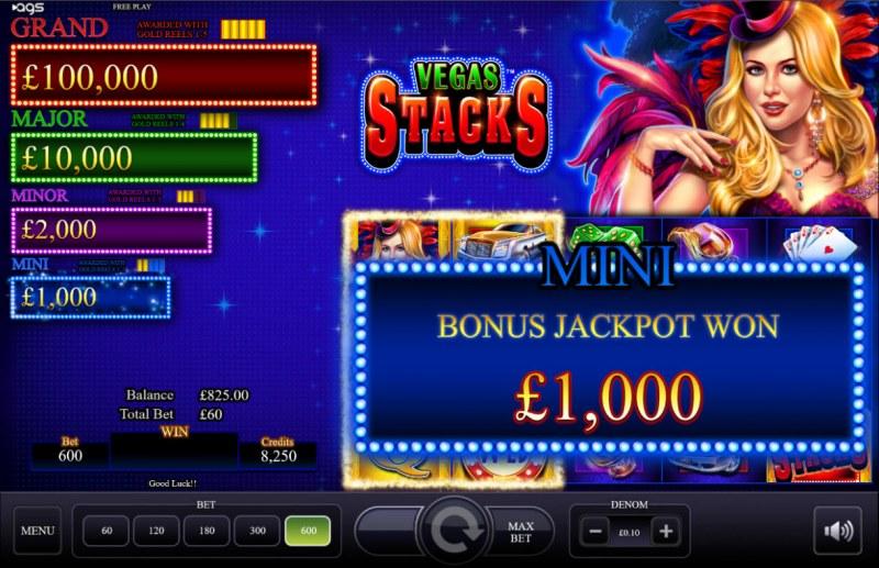 Vegas Stacks :: Bonus Jackpot Won
