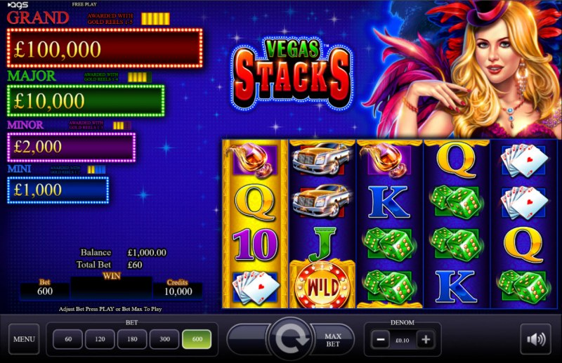 Vegas Stacks :: Main Game Board