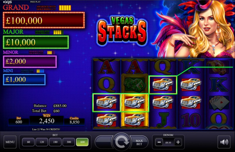 Vegas Stacks :: Multiple winning combinations lead to a big win