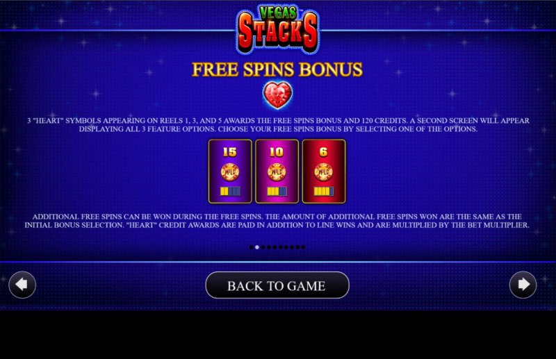 Vegas Stacks :: Free Spin Feature Rules