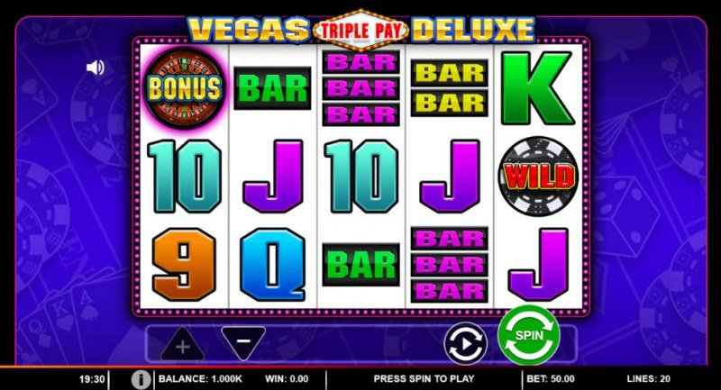 Vegas Triple Pay Deluxe :: Main Game Board